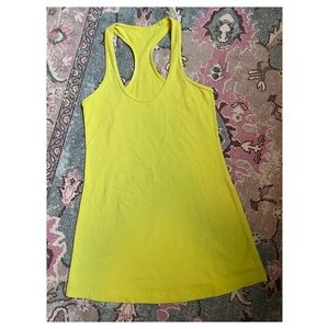 Lime green lululemon tank top